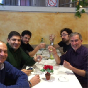 team dinner in Roma Dec 2014